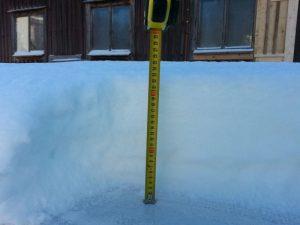 Lunta tuli kerralla kohtuullisesti
